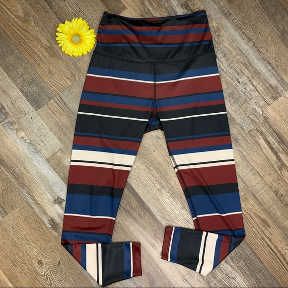 Beyond Yoga Stripe Lux High Waist Midi Leggings M